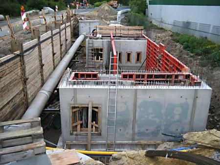 Ingenieurbau Neubau eines Regenklärbeckens