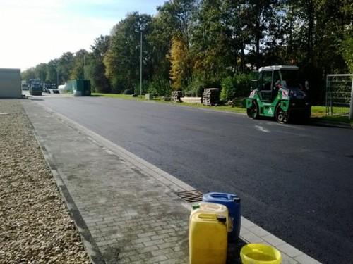 Straßenbau Wiederherstellung Tanklager-Zufahrten