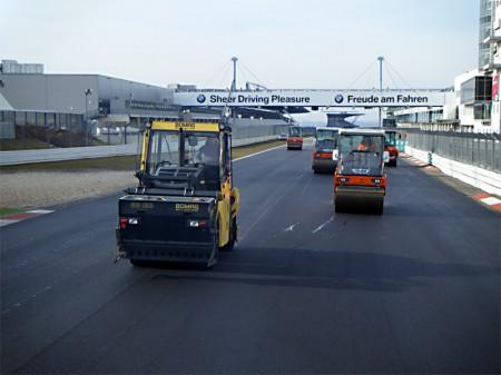 Straßenbau Nürburgring Asphaltierung